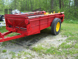 MANUER SPREADER AND FARROW PLOW