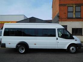 ONLY 35,604 miles from new. Ford Transit 17 seat minibus with ONE owner from new NO VAT (44)