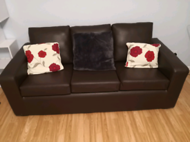 Leather 3 seat sofa great condition