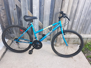 Blue 18 Speed Mountain bike with Lock and Gloves