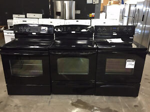 BLACK CERAN TOP CONVECTION RANGES-  1 YEAR WARRANTY