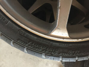 4 Tires with rims (alloy)