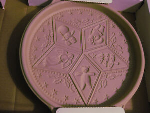 NEW, NEVER USED: CERAMIC SHORTBREAD MOLD/PAN