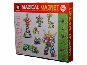 198 pcs Magical Magnet Toys Magnetic Construction Like Magformer