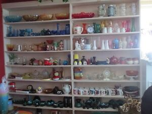 Collectibles, Dishes, Books, large collection .