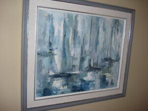 Original Oil - Sailboats