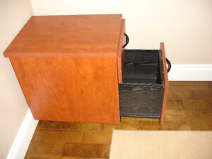 Solid file cabinet