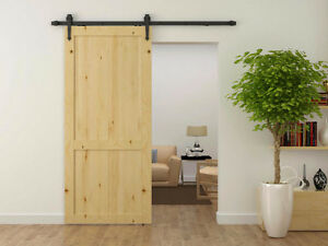 Complete sets of easy to install soft close barn door hardware