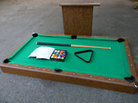 "Pool table 6""x 3"" compleat."