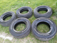 5 almost new Goodyear Wrangler SRA M&S 255 75 17