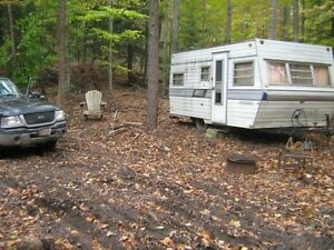trailer campsite woodland acreage- vacation retreat hunting camp