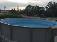 Bran new pool!  18 feet round 48inc high