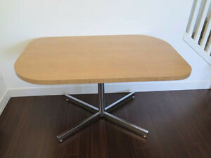 Kitchen Dining Table - wood finish with metal legs