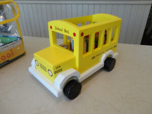 My Little School Bus Wooden Magnetic Toy by Jack Rabbit Creation Kitchener / Waterloo Kitchener Area image 2