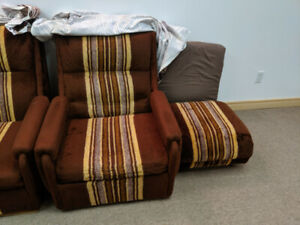 Three and One Seat Sofa Set with Ottoman