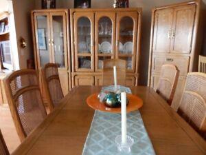 Handmade Kaufman of Collingwood Oak Dining Room Set
