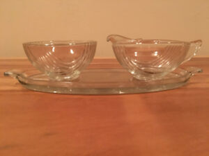 CHRISTMAS! MAKE AN OFFER! Anchor Hocking Queen Mary Cream/Sugar