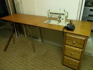 Kenmore Zigzag Sewing Machine on Work Table
