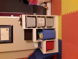 Ikea trofast toy storage unit with bins