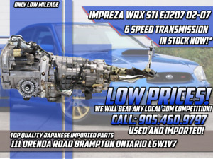 JDM SUBARU IMPREZA WRX STI EJ207 02-05 VERSION 8 6 SPEED TRANNY