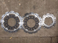 R1 5vy 04-06 ebc vee rotor disc front and rear very little use