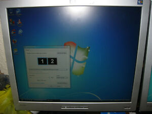 3Ghz E8400 Core 2 Duo 2GB RAM dual LCD monitor computer