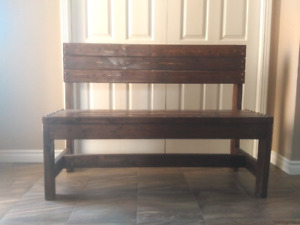 Large wood bench.  Great for hallway or table