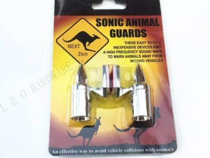 Animal Repeller Chrome Sonic Shu Shoo Roo Warning Guard One Pair