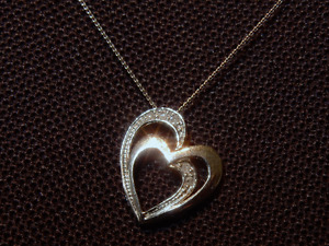 Ann Louise Entwined Hearts Pendant