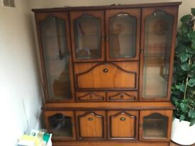 Two Display Cabinets, TV stand, Nest table's,