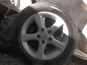1 Nissan Alloy 5x114 with 215/55/16 tires,balanced