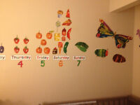 Very Hungry Caterpillar wall decals & height chart