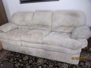 Beautiful Suede Leather Couch, Loveseat & Chair-LOT or Separate!