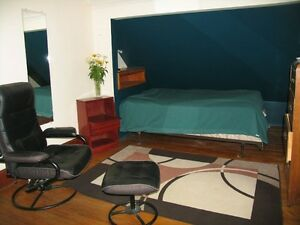 Furnished room for rent available now.