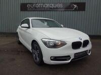 BMW 1 SERIES 114d SPORT (white) 2014