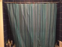 Shower curtain rod and curtain #HERUARSALES