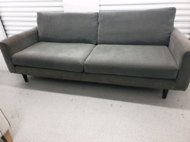 Free Delivery Grey 4 Seater Sofa
