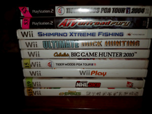 Wii and ps2 games.