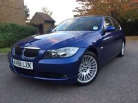 2007 BMW 3 series 325i 3.0 petrol FULL BMW HISTORY LE MANS BLUE 1 OWNER
