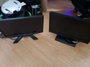 Deux moniteur benQ-Acer à vendre 60$ pour l'ensemble