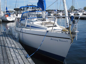 1984 Bavaria 29' sailboat new motor and transmission 3 years ago