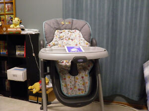Graco Winnie the Pooh Stroller, Swing and HighChair