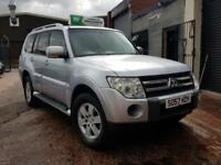2008 MITSUBISHI SHOGUN 3.2 DI-D EQUIPPE LWB MANUAL SILVER 7 SEATER NEW SHAPE 4x4