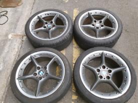 "18"" BMW Z4 E85 staggered alloy wheels E46 E90 E92 E60 E36"