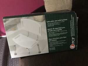 Safety bath seat with back rest.