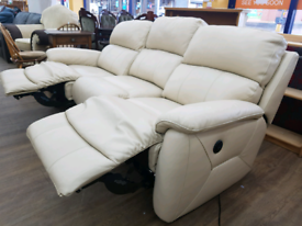 Leather electric 3 seater recliner and rise and recline Armchair