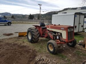 1974 International Tractor, 7' Blade and 5' Mower