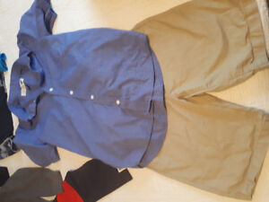Boys brand named clothing lot size 10-12