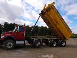 INTERNATIONAL 7600 TRIAXLE DUMP TRUCK WITH PLOW AND SANDER