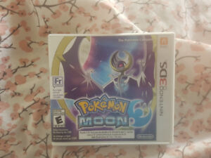Pokemon moon 3ds with case and manual